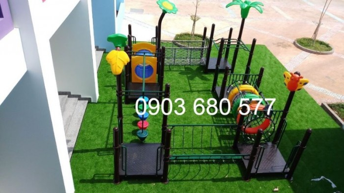 Cỏ nhân tạo an toàn trang trí sân chơi trẻ em, sân bóng đá, trường học mầm non10