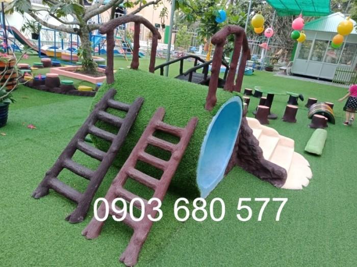 Cỏ nhân tạo an toàn trang trí sân chơi trẻ em, sân bóng đá, trường học mầm non11