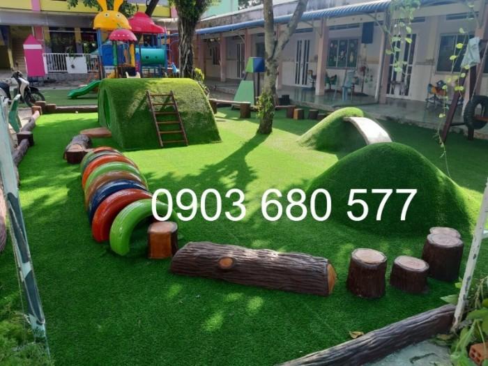 Cỏ nhân tạo an toàn trang trí sân chơi trẻ em, sân bóng đá, trường học mầm non12
