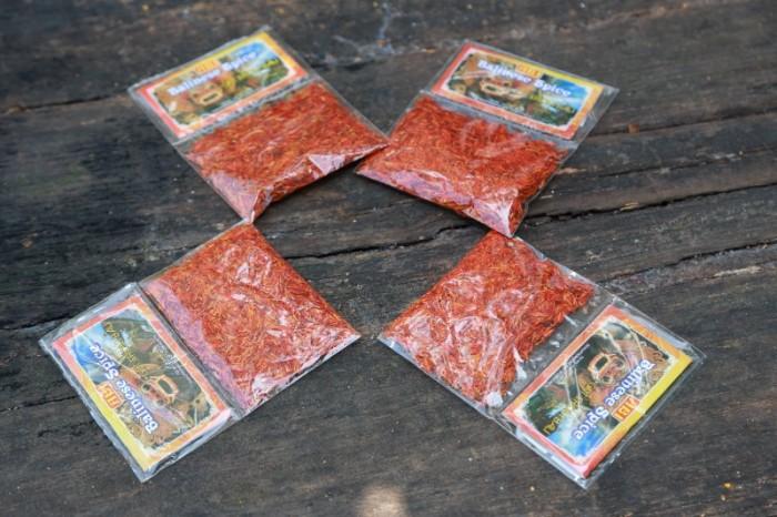 Saffron Flower Balinese Spice  Gói nhỏ về nhà có thể chiết vào các hũ thủy tinh gia vị 10