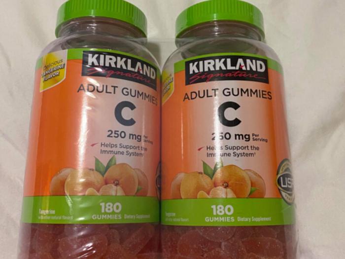 Kirkland adult Gummies C Thực phẩm bổ sung Vitamin C kẹo dẻo1