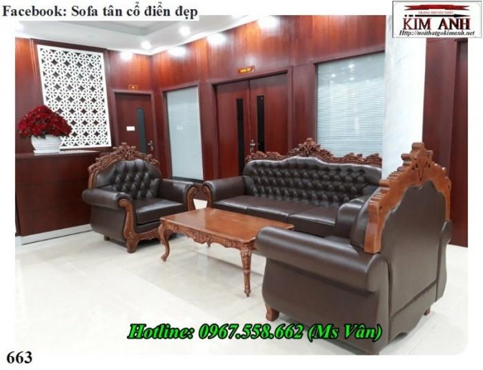 bàn ghế gỗ phòng khách tân cổ điển2