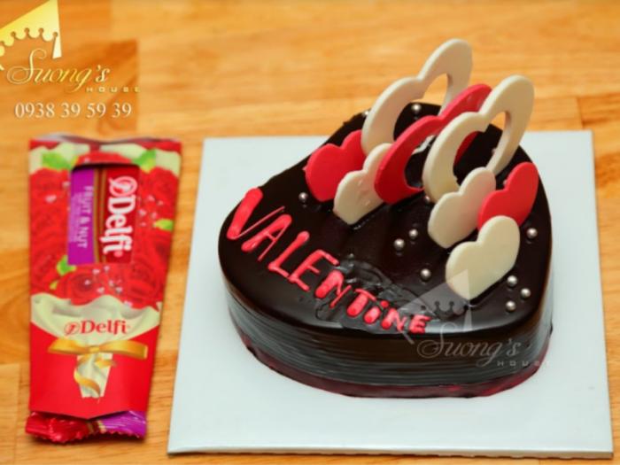 Bánh Kem  + Socola Ngày Lễ Tình Nhân Valentine 14-2