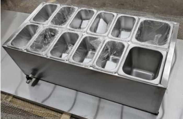 Thiết kế, gia công thùng/ khung/ khay inox giữ lạnh đựng thạch topping trà sữa, cháo dinh dưỡng tại Đak Lak0