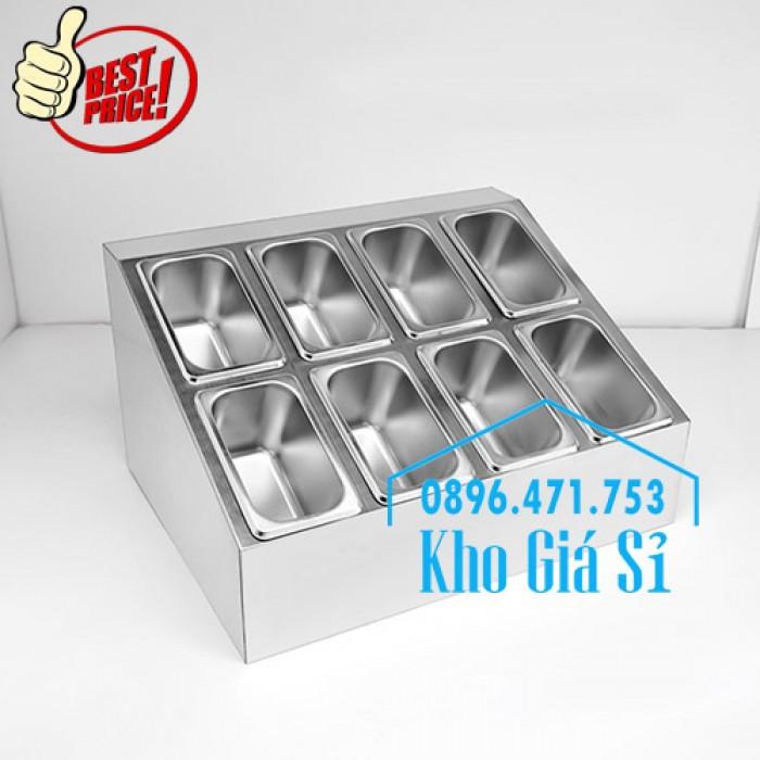 Thiết kế, gia công thùng/ khung/ khay inox giữ lạnh đựng thạch topping trà sữa, cháo dinh dưỡng tại Đak Lak5