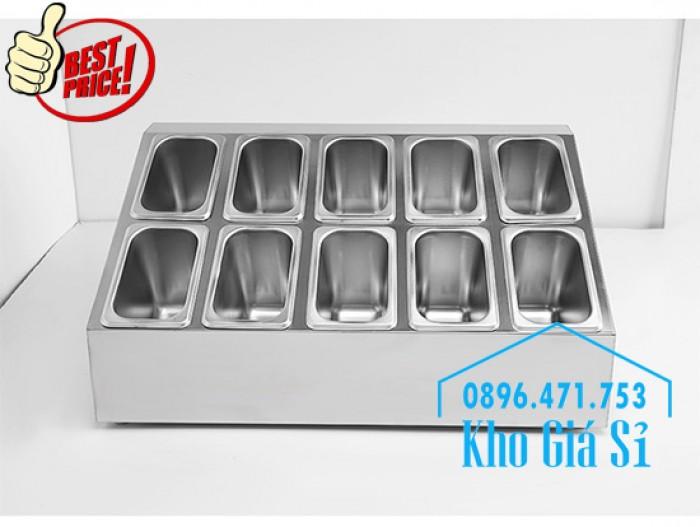 Thiết kế, gia công thùng/ khung/ khay inox giữ lạnh đựng thạch topping trà sữa, cháo dinh dưỡng tại Đak Lak3