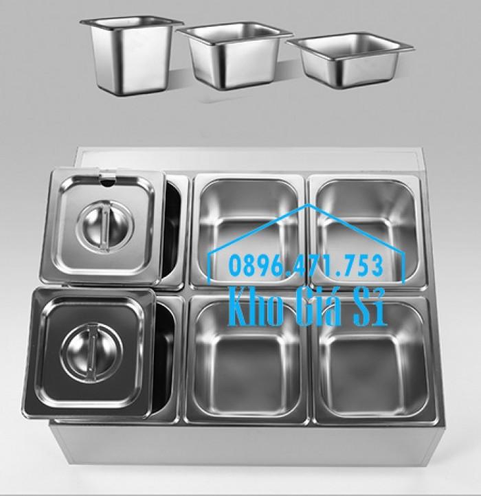 Thiết kế, gia công thùng/ khung/ khay inox giữ lạnh đựng thạch topping trà sữa, cháo dinh dưỡng tại Đak Lak7