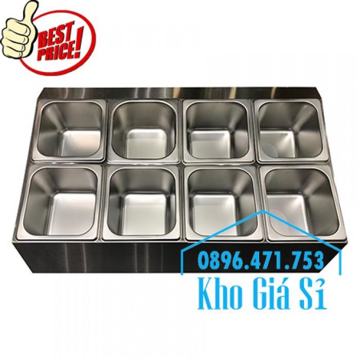 Thùng/Khung/Khay inox giữ lạnh đặt tại bàn bán trà sữa, cháo dinh dưỡng tại Đà Nẵng8