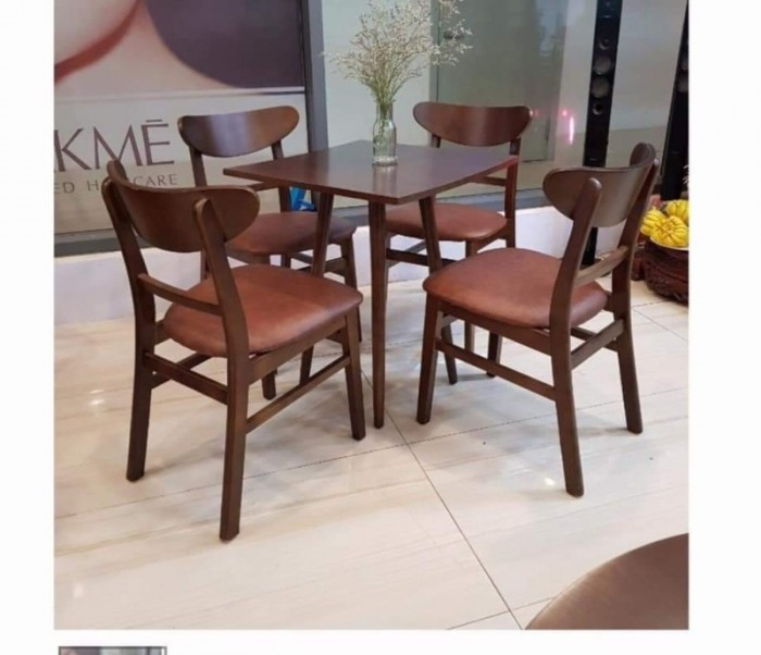 Bàn ghế cafe gỗ sơn P,U..0