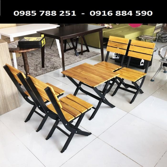 Bàn ghế gổ xếp quán nhậu  làm tại xưởng sản xuất ANH KHOA 089800