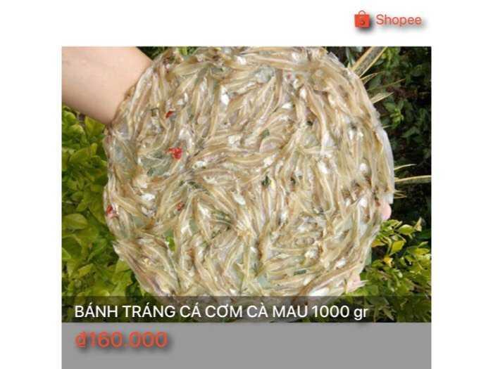 Bánh tránh cá cơm Cà Mau 1000 gr0