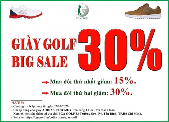Giày Golf Big Sale 30% FootJoy, Adidas 0