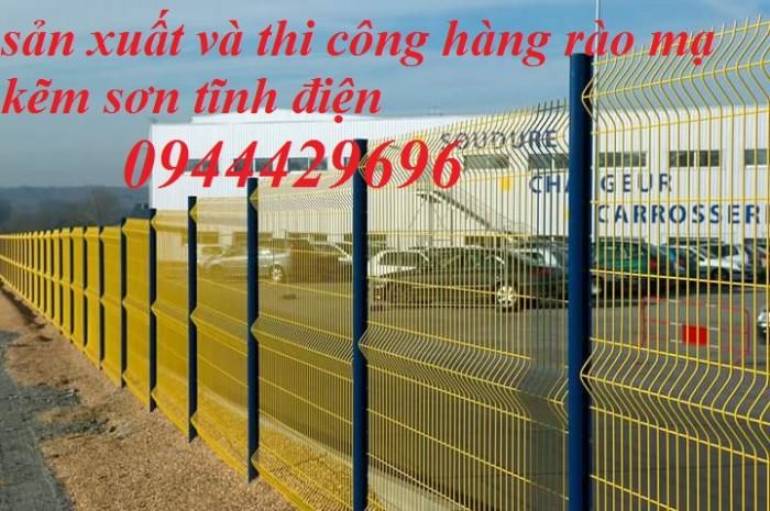 Hàng rào lưới thép hàn D5 a 50x200 mạ kẽm sơn tĩnh0