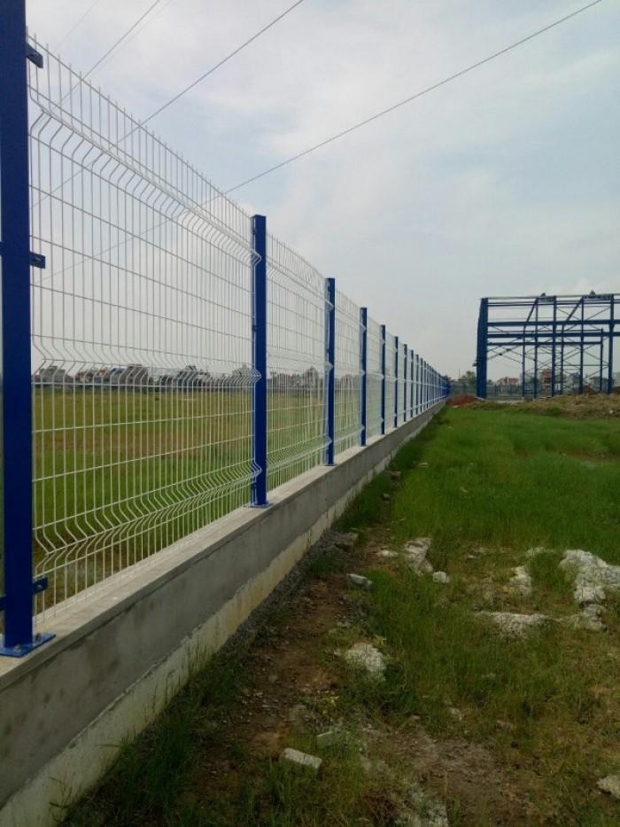 Hàng rào lưới thép hàn D5 a 50x200 mạ kẽm sơn tĩnh13