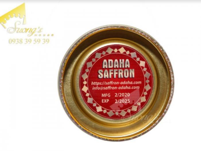 Nhụy hoa nghệ Tây saffron Adaha  - thời hạn sử dụng lâu dài5