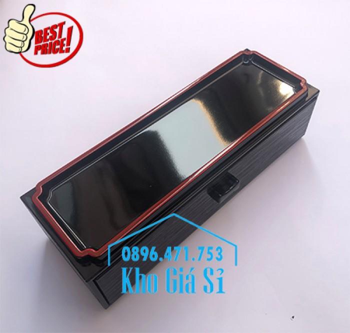 Bán hộp đựng đũa muỗng có nắp màu đen, Hộp đựng đũa muỗng màu đen có ngăn kéo Bình Dương8