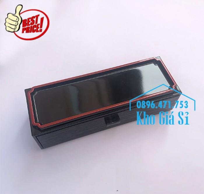 Bán hộp đựng đũa muỗng có nắp màu đen, Hộp đựng đũa muỗng màu đen có ngăn kéo Bình Dương9