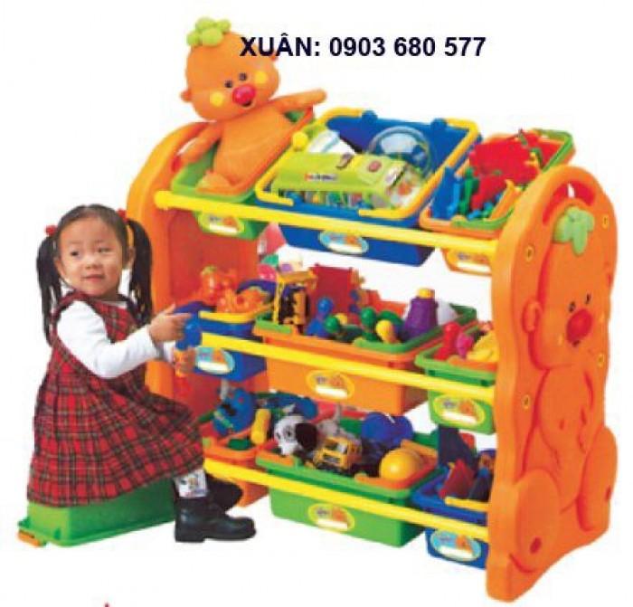 Chuyên bán kệ nhựa trẻ em dành cho trường lớp mầm non, gia đình6