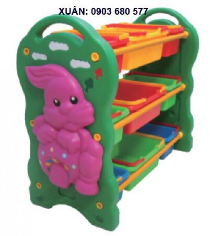 Chuyên bán kệ nhựa trẻ em dành cho trường lớp mầm non, gia đình14