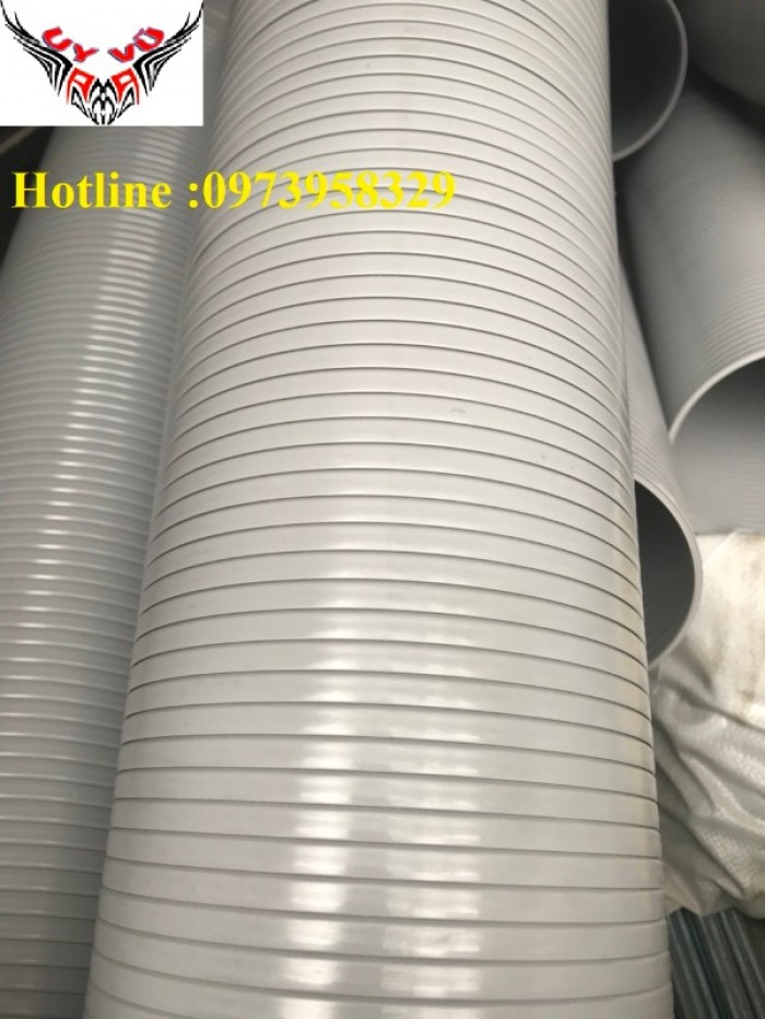 Phân phối ống nhựa định hình - ống gió xoắn định hình - ống nhựa xếp hệ thống điều hòa D200, D150,10