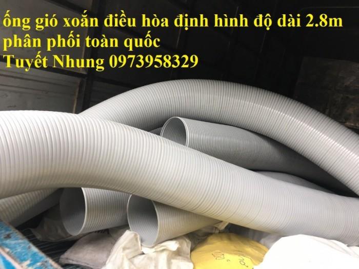 Phân phối ống nhựa định hình - ống gió xoắn định hình - ống nhựa xếp hệ thống điều hòa D200, D150,12
