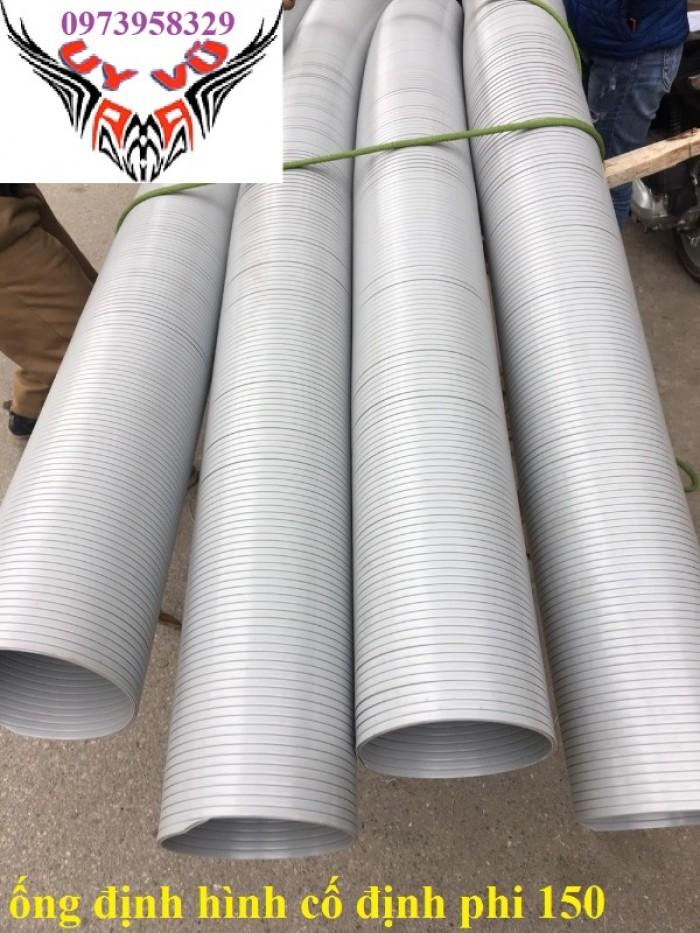 Phân phối ống nhựa định hình - ống gió xoắn định hình - ống nhựa xếp hệ thống điều hòa D200, D150,13