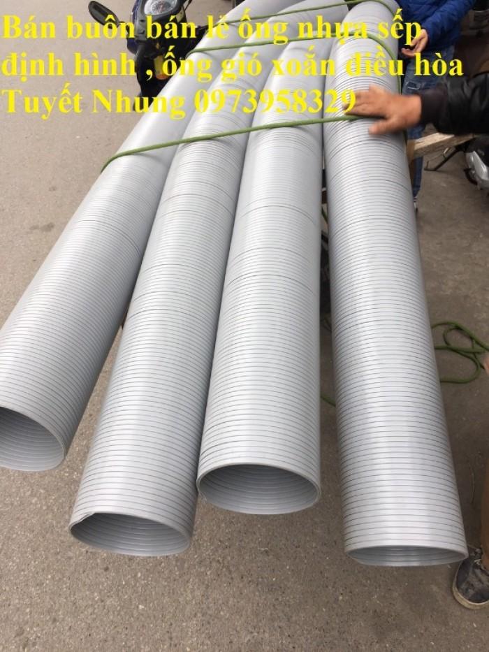 Phân phối ống nhựa định hình - ống gió xoắn định hình - ống nhựa xếp hệ thống điều hòa D200, D150,14