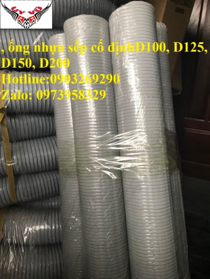 Phân phối ống nhựa định hình - ống gió xoắn định hình - ống nhựa xếp hệ thống điều hòa D200, D150,20