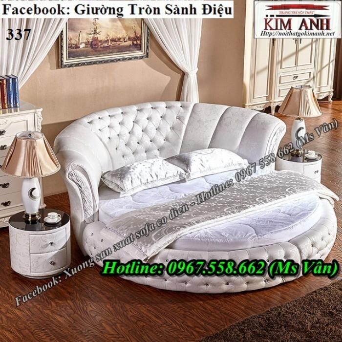 giường ngủ hình tròn màu trắng8