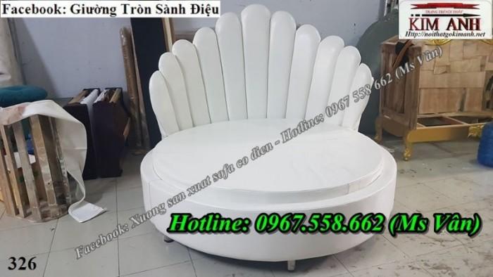 giường ngủ hình tròn màu trắng sang trọng Đồng Nai Tiền Giang12