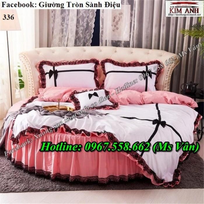 giường ngủ hình tròn dễ thương phong cách công chúa17