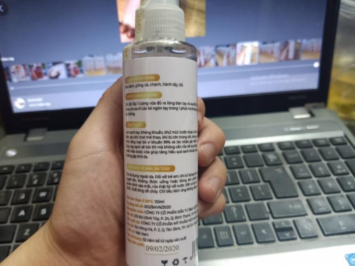 Dung dịch rửa tay khô diệt khuẩn 24h Suong's House 155ml