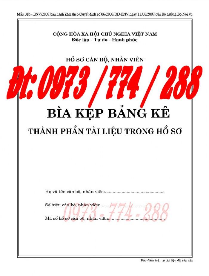 Bán Bìa kẹp nghị quyết, quyết định về nhân sự - Hồ sơ viên chức13