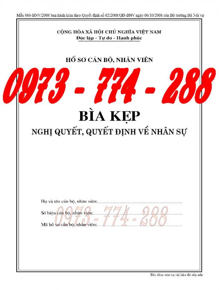 Bán Bìa kẹp nghị quyết, quyết định về nhân sự - Hồ sơ viên chức14