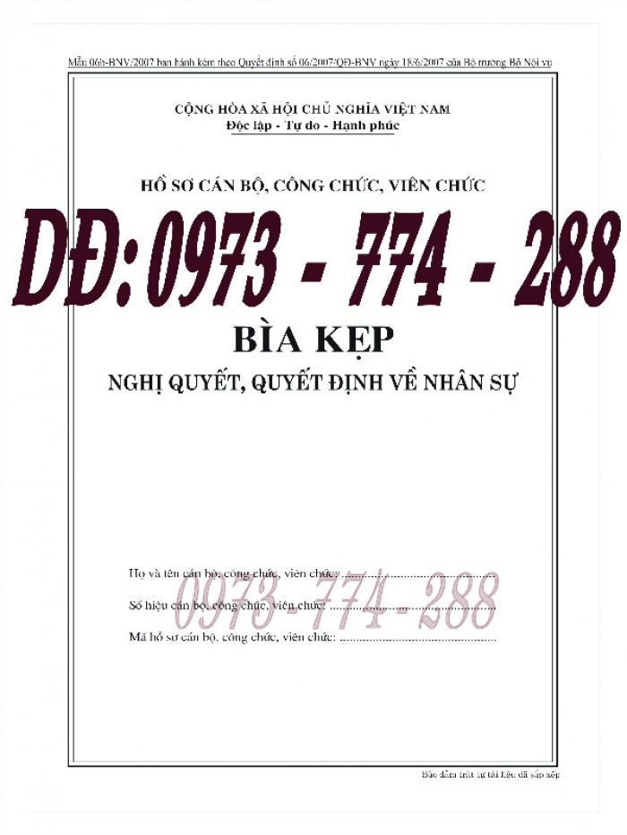Bìa kẹp nghị quyết quyết định về nhân sự mẫu theo Thông tư số 07/2019/TT-BNV ngày 01/6/2019 của Bộ Nội vụ7