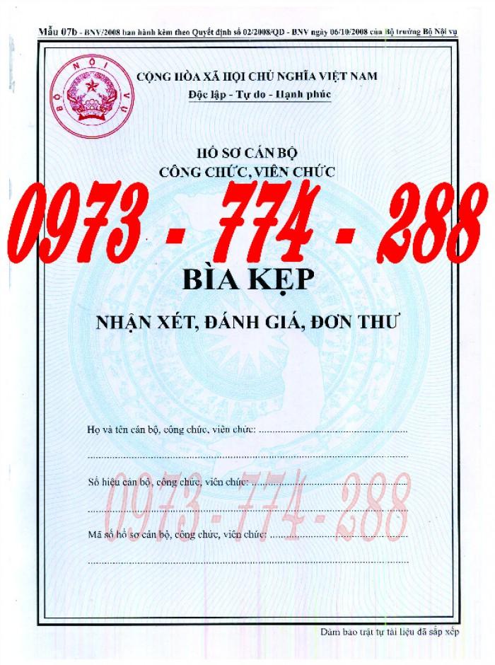Bìa kẹp nghị quyết quyết định về nhân sự mẫu theo Thông tư số 07/2019/TT-BNV ngày 01/6/2019 của Bộ Nội vụ14