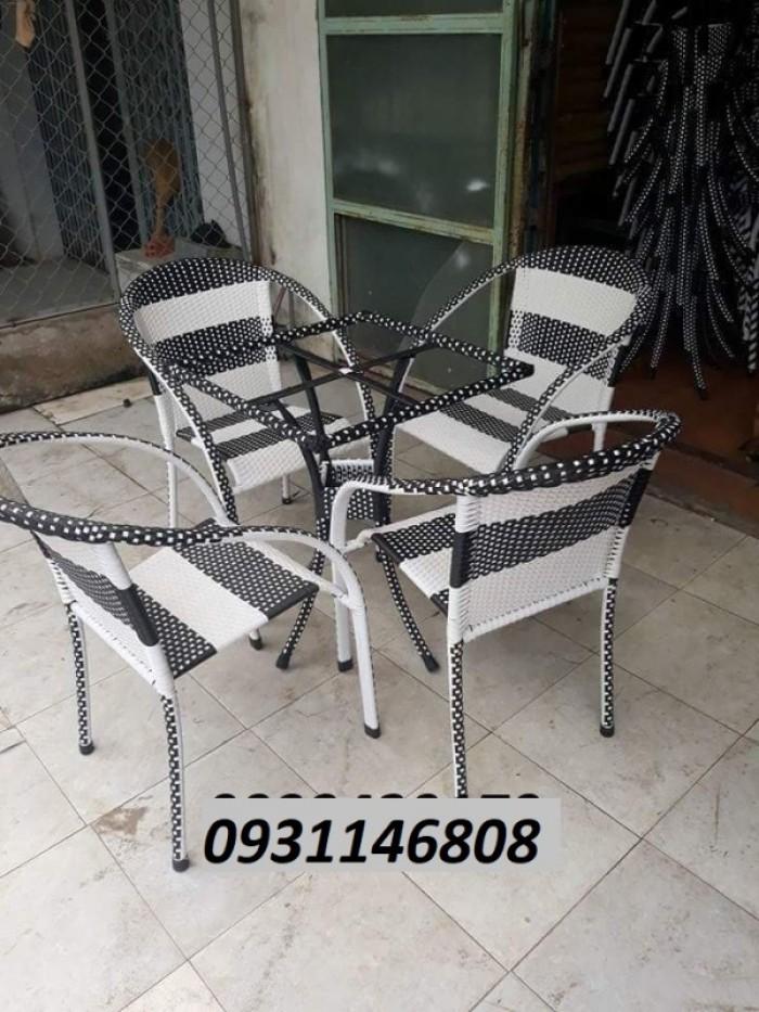 Bộ ghế cafe mây nhựa giá rẻ tphcm3