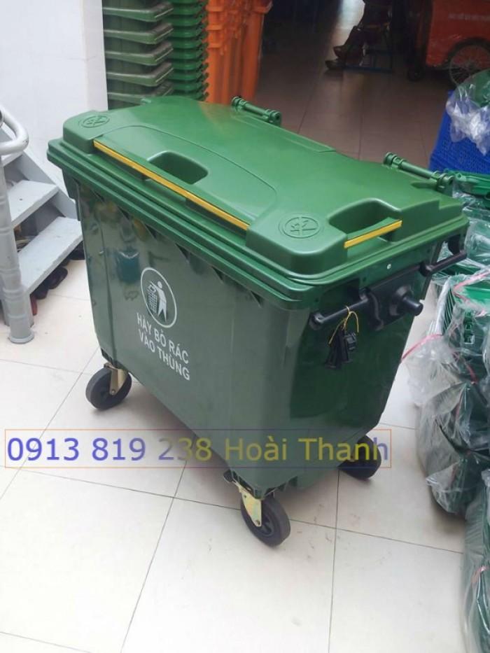 Bán xe gom rác đô thị 1100 lit0