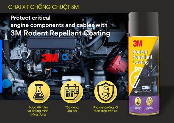 Chai Xịt Đuổi Chuột Khoang Động Cơ Ô Tô 3M Rodent Repellant Coating 250ml-ĐC3M250 1