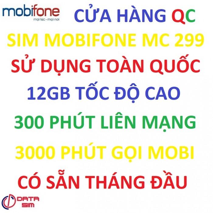 Sim 4G mobifone 3000phút nội mạng 300phút liên mạng 12GB tốc độ cao có sẵn tháng đầu2