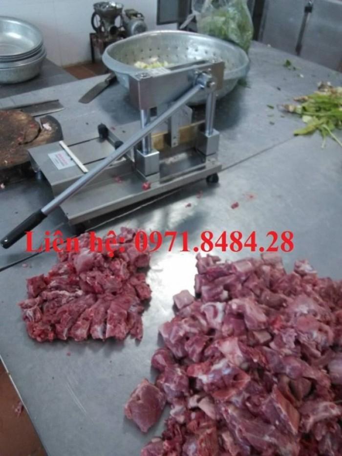 Máy chặt xương giò lợn, máy chặt xương lợn, máy cắt xương lợn thủ công3