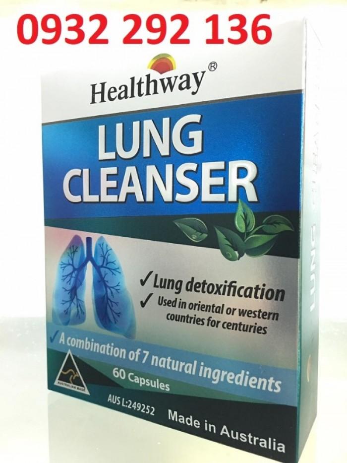 Lung Cleanser giúp bổ phổi, tăng cường thải độc phổi Ship COD toàn quốc0