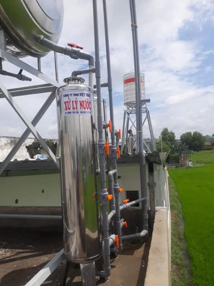 Bộ lọc nước giếng khoan nhiễm phèn sắt, kim loại, màu mùi, tạp chất.3
