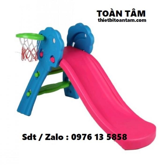 Cầu Trượt Mini Bóng Rổ Gấp Gọn Cho Bé - Cầu trượt mầm non cho bé 0