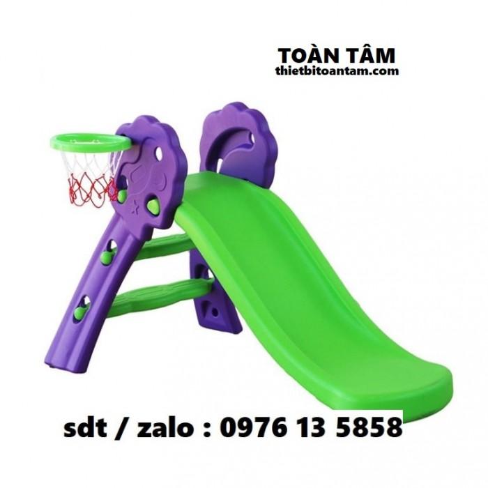 Cầu Trượt Mini Bóng Rổ Gấp Gọn Cho Bé - Cầu trượt mầm non cho bé 1