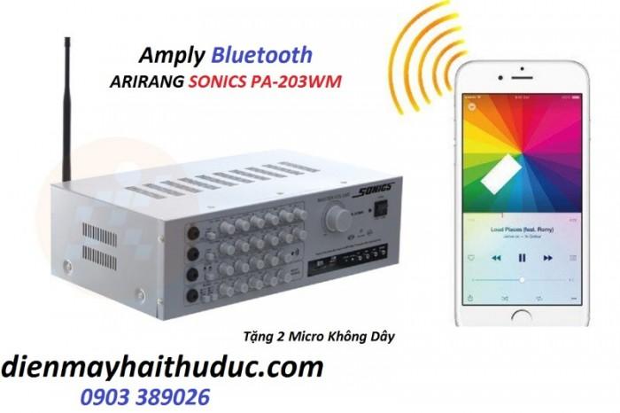 Amply Arirang Sonics PA-203WM nối Bluetooth với Amply là tha hồ ca hát trên Youtube 0