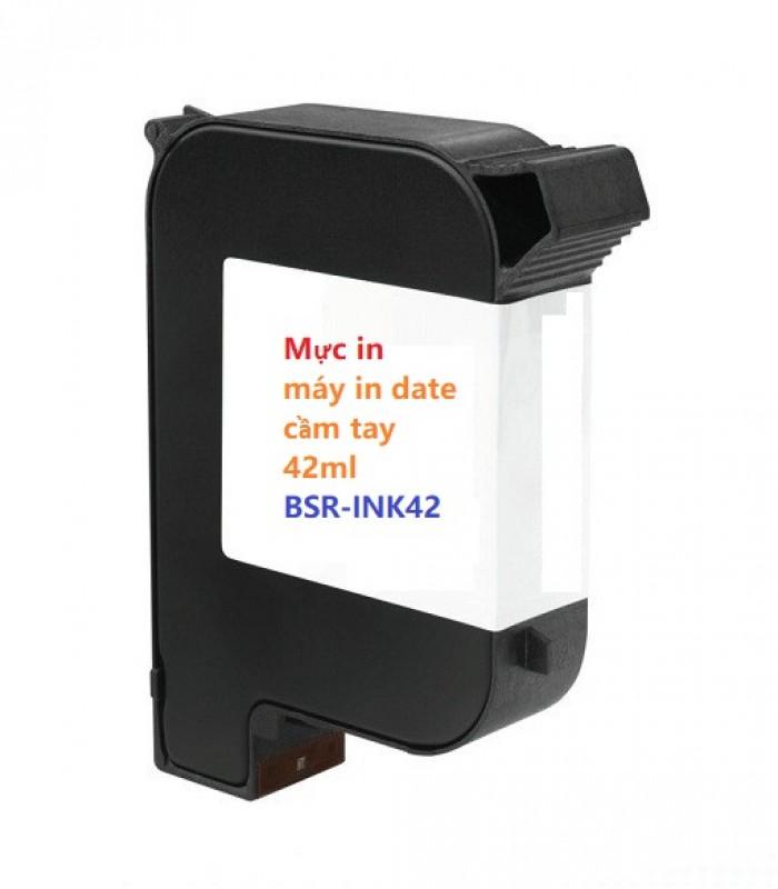 Mực in BSR-INK42 máy in date cầm tay Dung tích mực 42ml In phun trên mọi vật liệu khô nhanh - BSR-INK4211