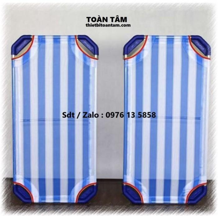 Giường Lưới Mầm Non Xanh Dương - giường mầm non giá rẻ 0