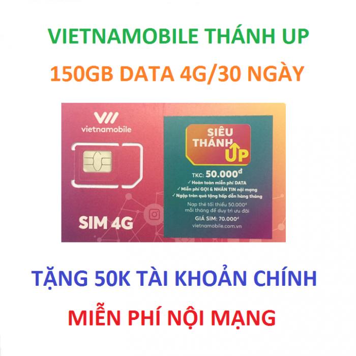 sim vietnamobile thánh up 150gb data nội mạng miễn phí0
