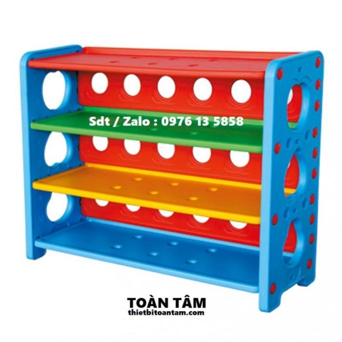 kệ đồ chơi, kệ đồ chơi 3 tần, kệ đồ chơi nhựa, kệ mầm non, kệ mầm non 3 tầng0